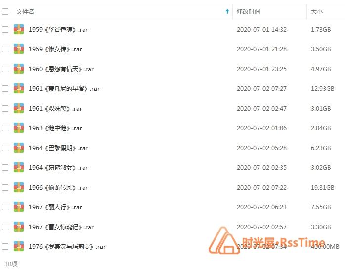《奥黛丽赫本电影全集27部》高清百度云网盘下载(1951-1989年)-时光屋