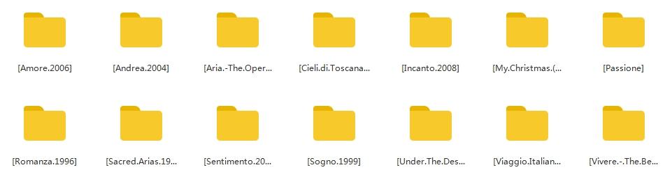 《安德烈·波切利/Andrea Bocelli》[14张专辑]无损歌曲百度云网盘下载-时光屋