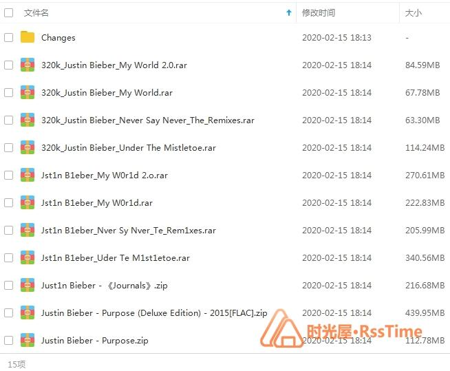 《贾斯汀比伯/Justin Bieber》[7张专辑]歌曲合集百度云网盘下载-时光屋