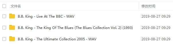 《B.B.King》[3张专辑]无损歌曲合集百度云网盘下载-时光屋