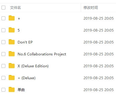 《艾德希兰/Ed Sheeran/黄老板》[6张专辑]无损歌曲合集百度云网盘下载-时光屋
