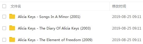 《艾丽西亚凯斯/Alicia Keys》[3张专辑]无损歌曲合集百度云网盘下载-时光屋