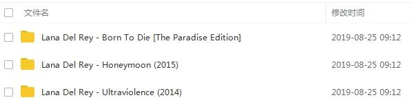 《拉娜德雷/Lana Del Rey》[3张专辑]无损歌曲合集百度云网盘下载-时光屋
