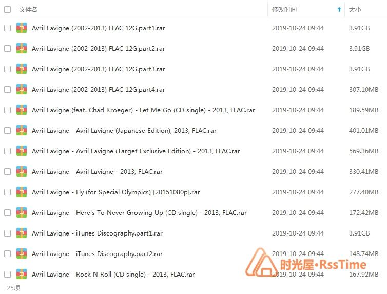 《艾薇儿拉维尼/Avril Lavigne》[100张CD专辑]歌曲合集百度云下载-时光屋