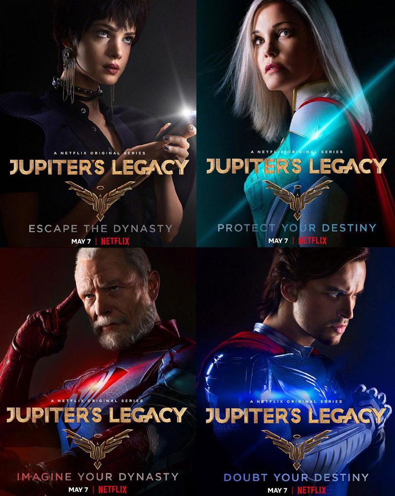 漫改超级英雄剧《朱庇特传奇》定档2021年5月7日登陆NETFLIX,日前发布角色海报!-时光屋