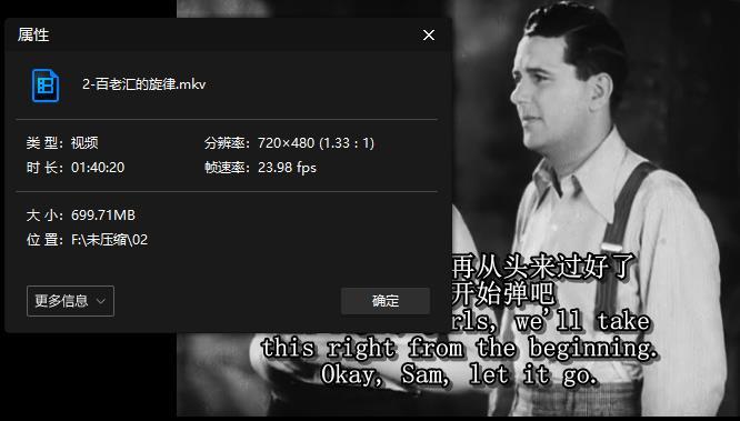 奥斯卡经典《百老汇的旋律》高清黑白版百度云网盘下载-时光屋