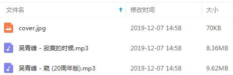 吴青峰EP《窥/寂寞的时候》专辑歌曲百度云网盘下载-时光屋