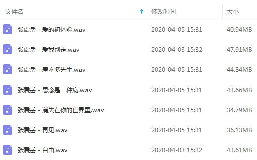 张震岳无损歌曲百度云网盘免费下载-时光屋