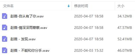 赵薇歌曲无损百度云网盘免费下载-时光屋